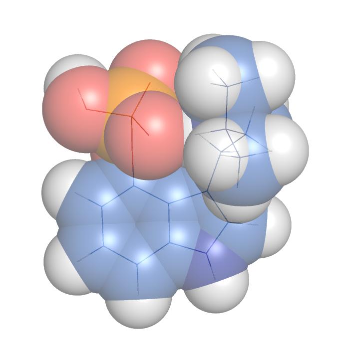 Image of psilocybin molecule